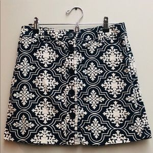J.Crew Demask Mini Skirt